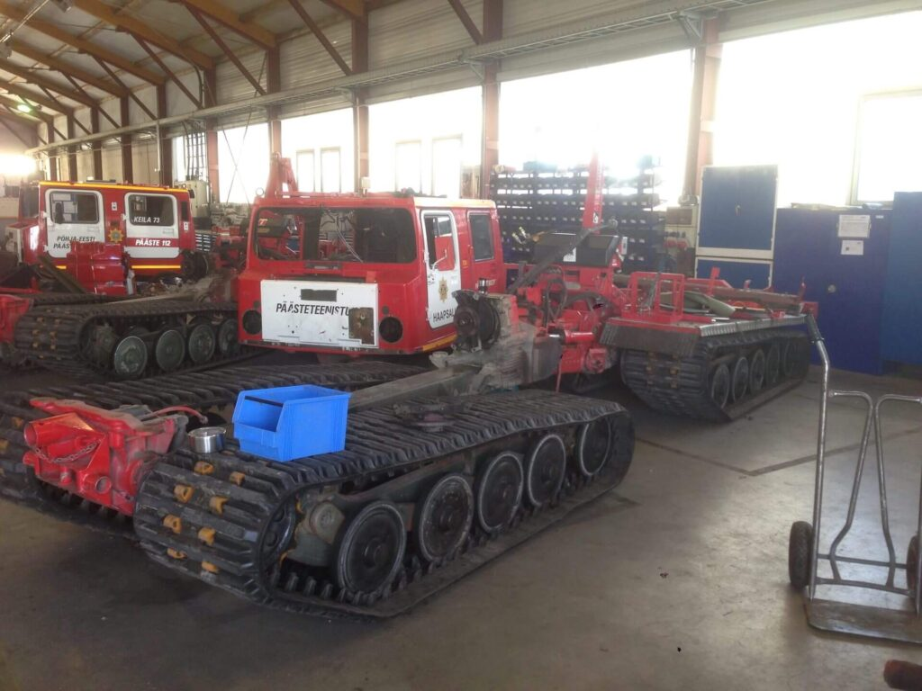 Refurbishment of Rescue Board BV206 - 3 - Completed works - Baltic Defence and Technology